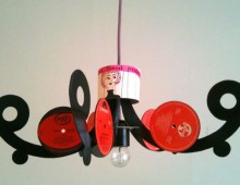 Stardust: Vinyl Record Chandeliers